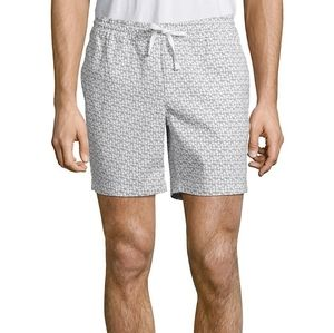 Core Life Grey and White Cotton Blend Shorts